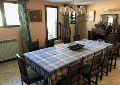 Casa Rural Los Cipreses de Mesones Guadalajara cerca de Madrid - Foto del comedor