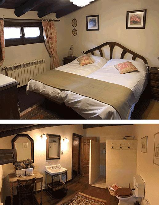Dormitorio El Olivo y baño