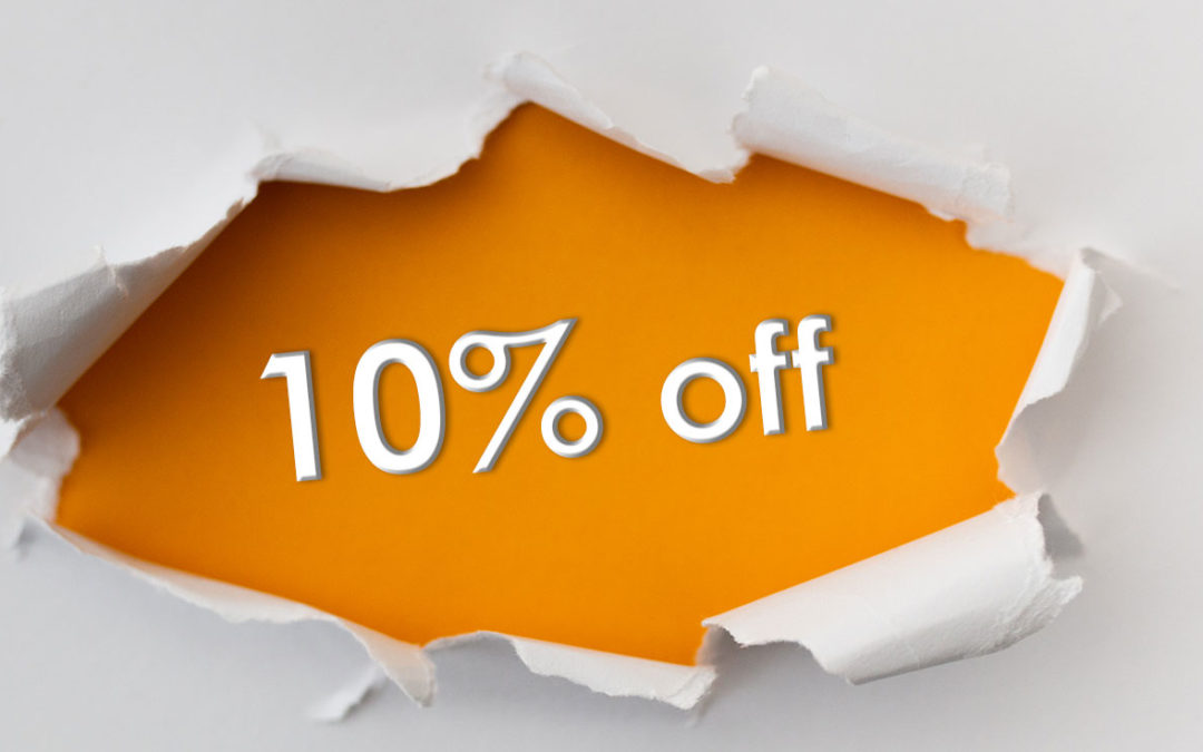 Image of a 10% discount