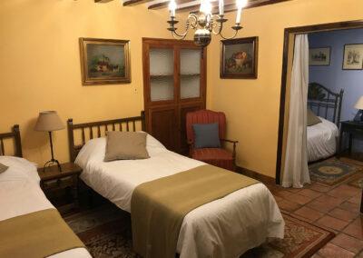 Rural House Los Cipreses de Mesones Guadalajara next to Madrid - Photo of the bedroom La Parra