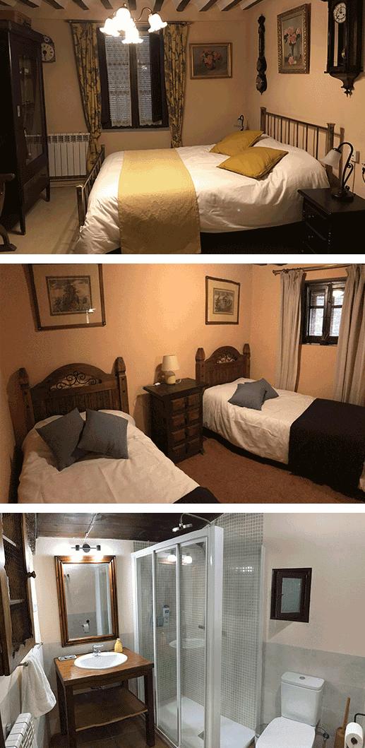 Dormitorio Los Relojes y baño